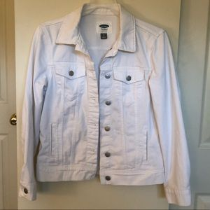 Old Navy White Jean Jacket Size Small